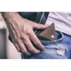 Znakomity ciemno brązowy zestaw portfel + bilonówka 8