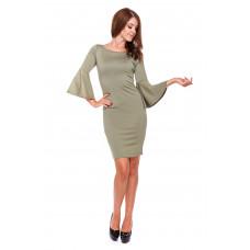 Sukienka damska ołówkowa LM23/3 (zieleń khaki)