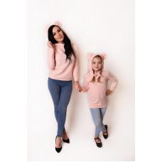 Bluza damska z uszami Mama i córka / synek LM47