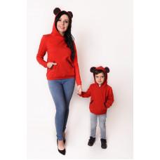 Bluza dziecięca z uszami Mama i córka / synek LD47