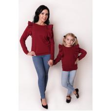 Bluza dziewczęca z falbanami Mama i córka LD48