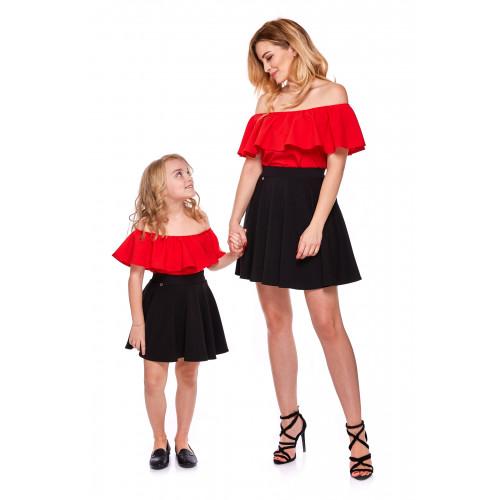 Bluzka hiszpanka dla córki LD9/2B czerwona