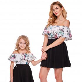 4087ec3d54 Bluzka hiszpanka dla córki LD9 5B w kwiaty
