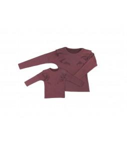 LATORI - Komplet bluz dla mamy i córki LM14/3 LD14/3 bordo