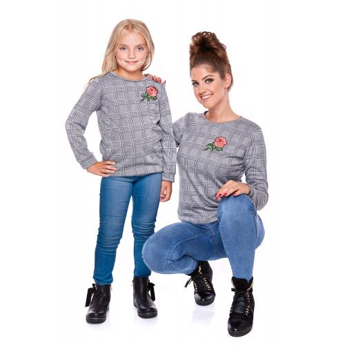 Komplet bluz dla mamy i córki LD29/LM29-1 (Krata)