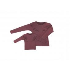 Komplet bluz dla mamy i córki LM14/3 LD14/3 bordo