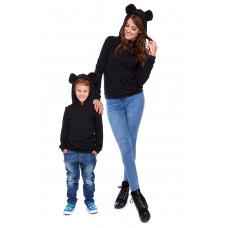 Komplet bluz dla mamy i syna LD21/LM21-1 (Ciemno-szary)