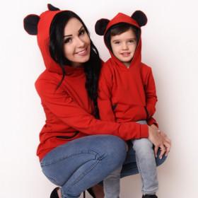 Komplet bluz z uszami Mama i córka / synek LM47