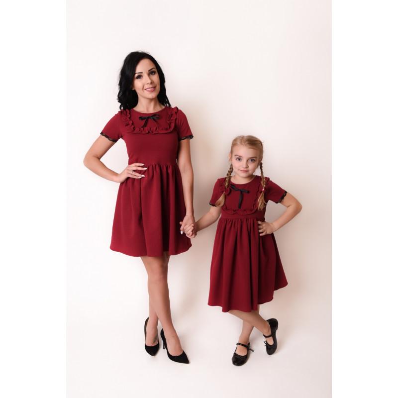 a4c9af56d2bb44 Kup Komplet Sukienek z dzianiny Mama i Córka LM44 • POLPOL
