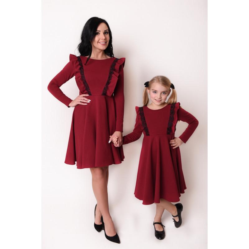 227b547f496daa Kup Komplet Sukienek z dzianiny Mama i Córka LM46 • POLPOL