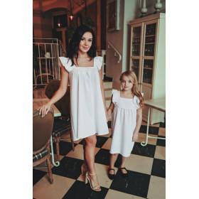 Komplet Sukienek z kwadratowym dekoltem Mama i Córka LM43