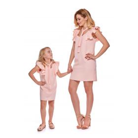 Sukienka dla córki Mama i córka LD10/3 różowa