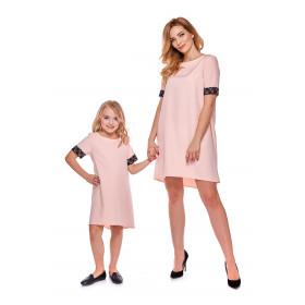 """""""Mama i córka"""" Sukienka dla córki LD12/3 różowa"""