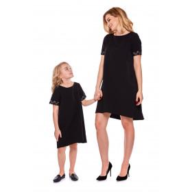 """Mama i córka"" Sukienka dla córki LD12/4  czarna"