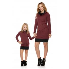 """Mama i córka"" Sukienka dla Córki LD1/3 bordo"