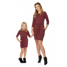 """Mama i córka"" Sukienka dla córki LD6/3 bordo"