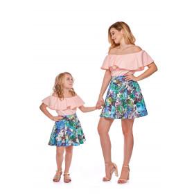 Spódnica z koła dla córki LD11/1 w kwiaty
