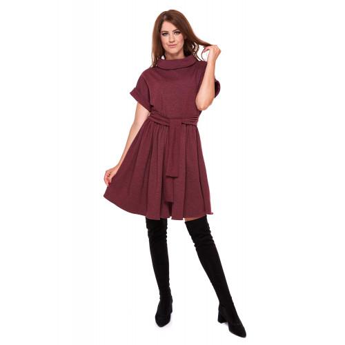 Sukienka damska ONE SIZE LM26/2 (bordo melanż)