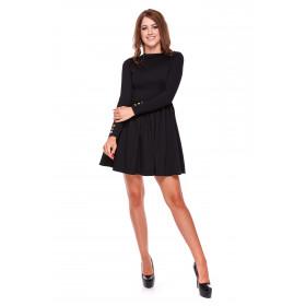 Sukienka damska rozkloszowana LM31/1 (czarny)