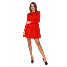 Sukienka damska rozkloszowana LM31/2 (czerwony)