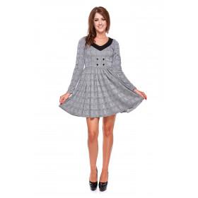 Sukienka damska w kratę LM33/1 (krata)