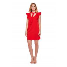 Sukienka dla mamy LM10/2 czerwona