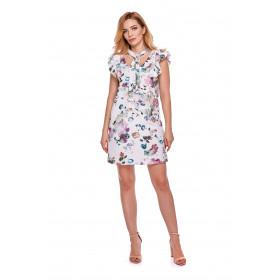 Sukienka dla mamy LM10/5 w kwiaty