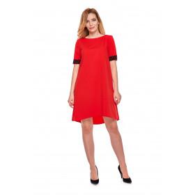 Sukienka dla mamy LM12/2 czerwona