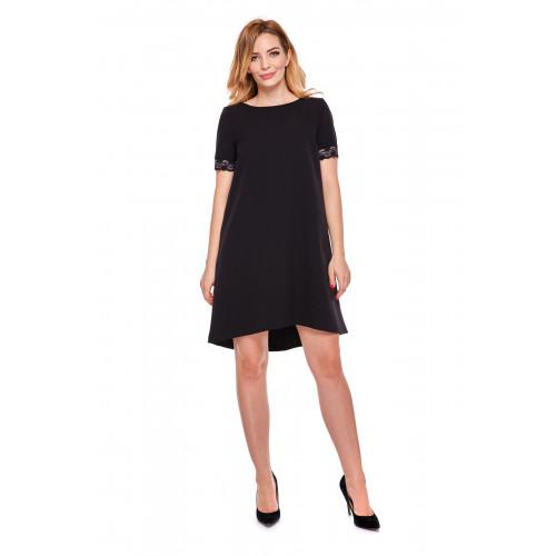 Sukienka dla mamy LM12/4 czarny