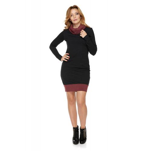 Sukienka dla mamy LM1/4 ciemno-szary