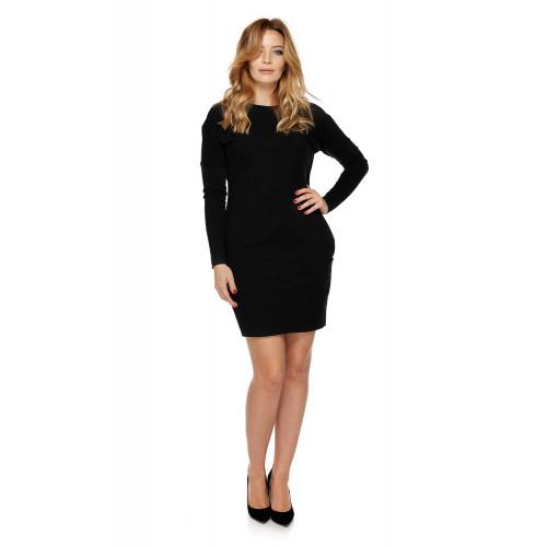 Sukienka dla mamy LM2/1 ciemno-szary