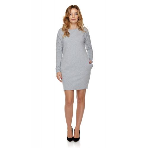 Sukienka dla mamy LM2/2 jasno-szary