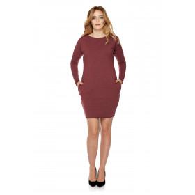 Sukienka dla mamy LM2/3 bordo