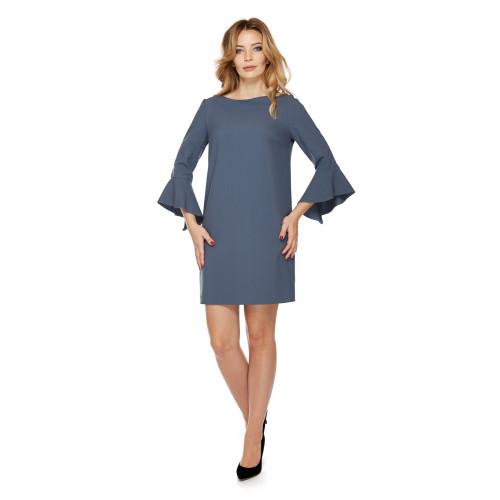 Sukienka dla mamy LM3/1 brudny niebieski