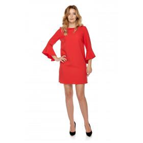 Sukienka dla mamy LM3/2 czerwony