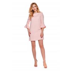 Sukienka dla mamy LM3/3 pudrowy róż