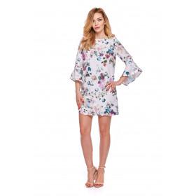 Sukienka dla mamy LM3/5 kwiatowy wzór