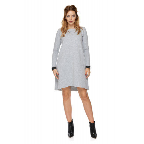Sukienka dla mamy LM5/1 jasno-szary
