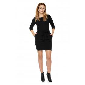 Sukienka dla mamy LM6/1 ciemno-szary