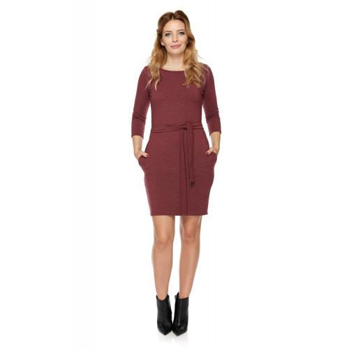 Sukienka dla mamy LM6/3 bordo