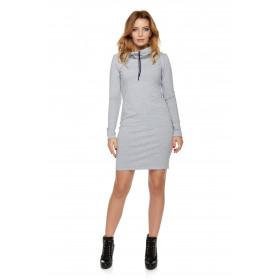 Sukienka dla mamy LM7/2 jasno-szary
