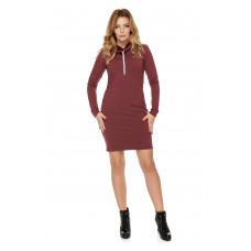 Sukienka dla mamy LM7/3 bordo