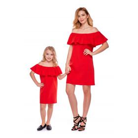 Sukienka hiszpanka dla córki LD9/2 Czerwona