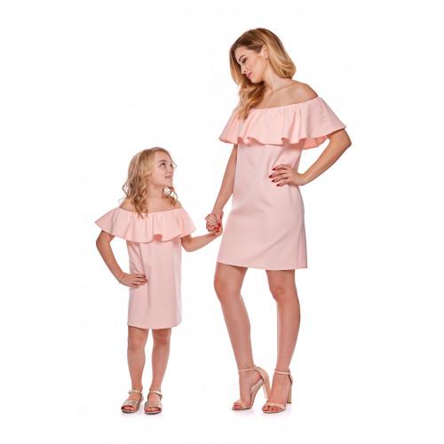 Sukienka hiszpanka dla córki LD9/3 różowa