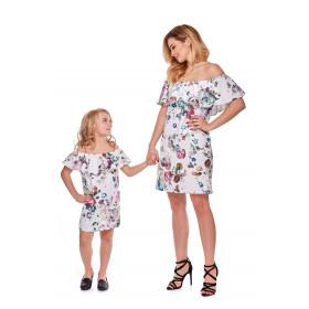 Sukienka hiszpanka dla córki LD9/5 w kwiaty