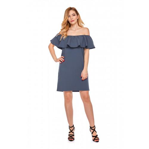 Sukienka hiszpanka dla mamy LM9/1 niebieska
