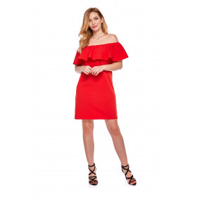 Sukienka hiszpanka dla mamy LM9/2 czerwona
