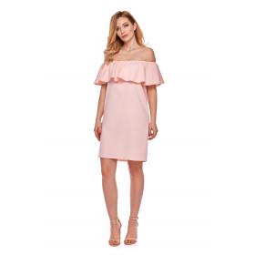 Sukienka hiszpanka dla mamy LM9/3 różowa