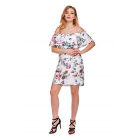 Sukienka hiszpanka dla mamy LM9/5 kwiaty