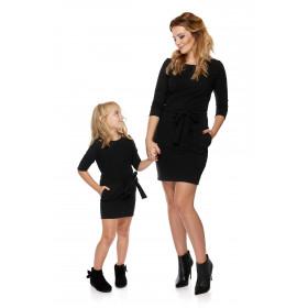 Sukienka Mama i córka - dla córki LD6/1 Ciemno-Szary